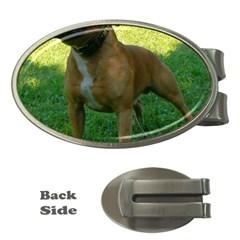 3 Full Staffordshire Bull Terrier Money Clips (oval)