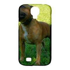 3 Full Staffordshire Bull Terrier Samsung Galaxy S4 Classic Hardshell Case (pc+silicone)