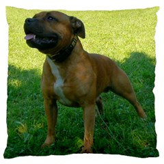 3 Full Staffordshire Bull Terrier Large Flano Cushion Case (two Sides)