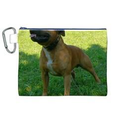 3 Full Staffordshire Bull Terrier Canvas Cosmetic Bag (xl)