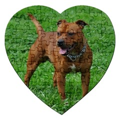4 Full Staffordshire Bull Terrier Jigsaw Puzzle (heart)