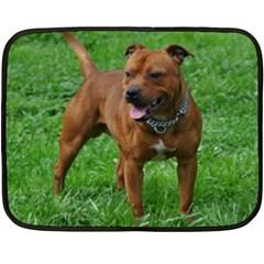 4 Full Staffordshire Bull Terrier Fleece Blanket (mini)
