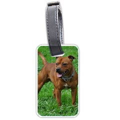 4 Full Staffordshire Bull Terrier Luggage Tags (one Side)