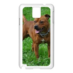 4 Full Staffordshire Bull Terrier Samsung Galaxy Note 3 N9005 Case (white)
