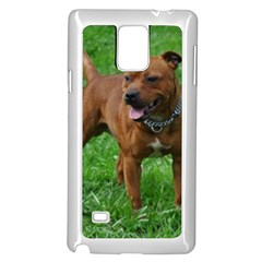 4 Full Staffordshire Bull Terrier Samsung Galaxy Note 4 Case (white)