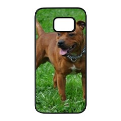4 Full Staffordshire Bull Terrier Samsung Galaxy S7 Edge Black Seamless Case