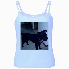 Bouvier Shaved Baby Blue Spaghetti Tank