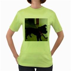 Bouvier Shaved Women s Green T Shirt