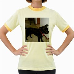 Bouvier Shaved Women s Fitted Ringer T Shirts