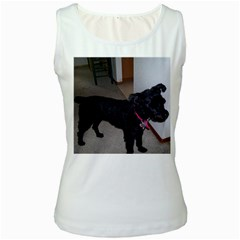 Bouvier Shaved Women s White Tank Top