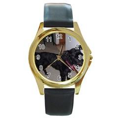Bouvier Shaved Round Gold Metal Watch