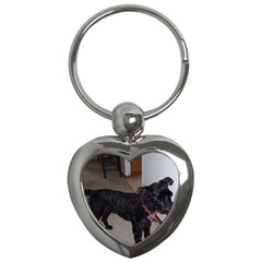 Bouvier Shaved Key Chains (heart)