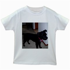 Bouvier Shaved Kids White T Shirts