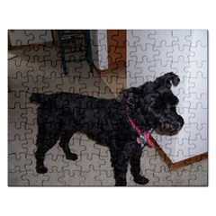 Bouvier Shaved Rectangular Jigsaw Puzzl