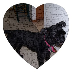 Bouvier Shaved Jigsaw Puzzle (heart)