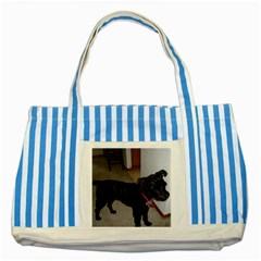 Bouvier Shaved Striped Blue Tote Bag
