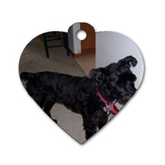 Bouvier Shaved Dog Tag Heart (two Sides)