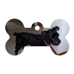 Bouvier Shaved Dog Tag Bone (one Side)