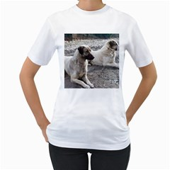2 Anatolians Women s T Shirt (white) (two Sided)