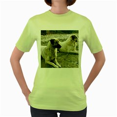 2 Anatolians Women s Green T Shirt