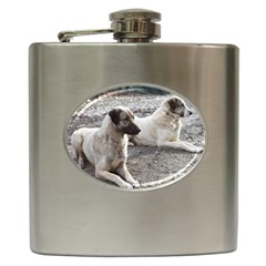 2 Anatolians Hip Flask (6 Oz)