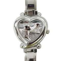 2 Anatolians Heart Italian Charm Watch