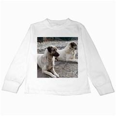 2 Anatolians Kids Long Sleeve T Shirts