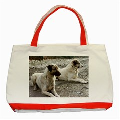 2 Anatolians Classic Tote Bag (red)
