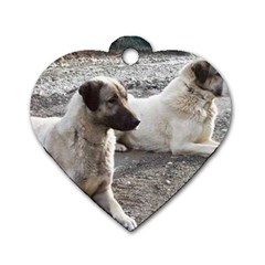 2 Anatolians Dog Tag Heart (one Side)