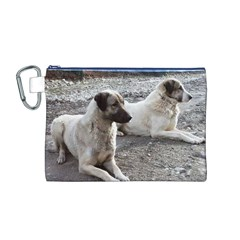 2 Anatolians Canvas Cosmetic Bag (m)