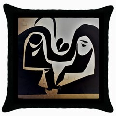 With Love Throw Pillow Case (black)