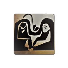 With Love Square Magnet
