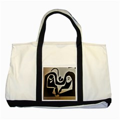 With Love Two Tone Tote Bag