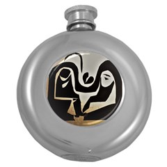 With Love Round Hip Flask (5 Oz)