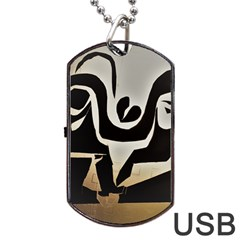With Love Dog Tag Usb Flash (two Sides)