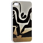 WITH LOVE Apple iPhone 4/4s Seamless Case (White) Front