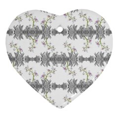 Floral Collage Pattern Ornament (heart)