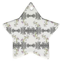 Floral Collage Pattern Ornament (star)