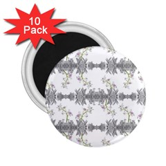 Floral Collage Pattern 2 25  Magnets (10 Pack)