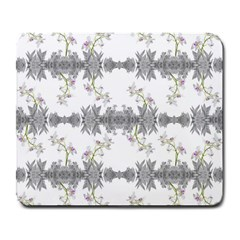 Floral Collage Pattern Large Mousepads