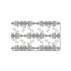 Floral Collage Pattern Magnet (name Card)
