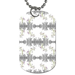 Floral Collage Pattern Dog Tag (one Side)