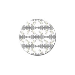 Floral Collage Pattern Golf Ball Marker