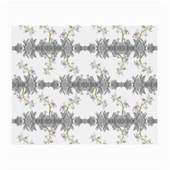 Floral Collage Pattern Small Glasses Cloth