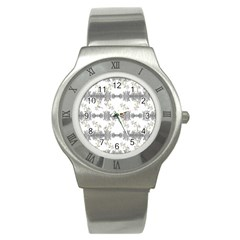 Floral Collage Pattern Stainless Steel Watch