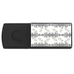 Floral Collage Pattern Rectangular Usb Flash Drive