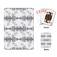 Floral Collage Pattern Playing Card