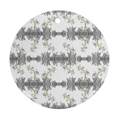 Floral Collage Pattern Round Ornament (two Sides)
