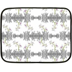 Floral Collage Pattern Double Sided Fleece Blanket (mini)