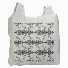 Floral Collage Pattern Recycle Bag (one Side)